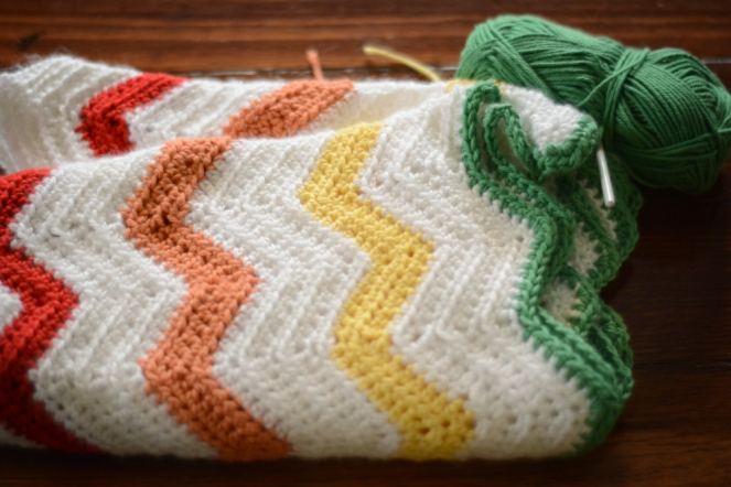 Crochet rainbow chevron